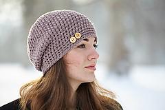 Čiapky - Svetlo-hnedá čiapka a la capuccino - 10365739_