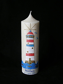 Svietidlá a sviečky - Křestní svíčka MAJÁK 3 - 10365184_