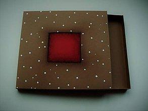 Krabičky - nízka darčeková krabička - 10364603_