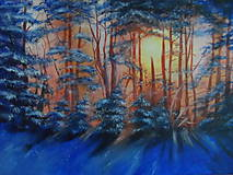 Obrazy - V jeden žiarivý zimný deň - 10362862_