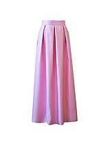Sukne - MAXI skladaná sukňa s vreckami - 10362552_