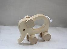 Hračky - Drevené hračky. Zvieratká s otvorom pre uchopenie. - 10364857_