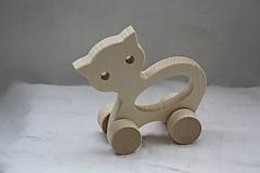 Hračky - Drevené hračky. Zvieratká s otvorom pre uchopenie. - 10364858_