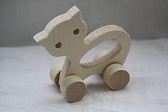 Hračky - Drevené hračky. Zvieratká s otvorom pre uchopenie. - 10364859_
