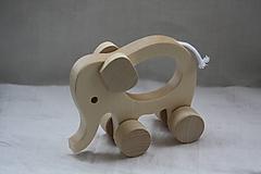 Hračky - Drevené hračky. Zvieratká s otvorom pre uchopenie. - 10364861_