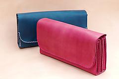 Peňaženky - Dámská kožená peněženka -kasírka - 10364733_