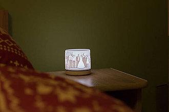 Svietidlá a sviečky - 3D foto lampa  (Foto lampa s kruhovým podstavcom) - 10363468_