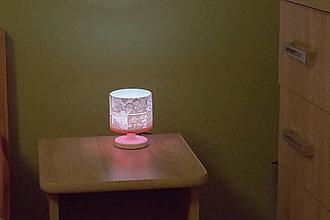 Svietidlá a sviečky - 3D foto lampa  (lampa s červeným kruhom) - 10363495_