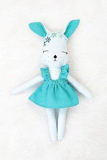 Hračky - Nature funny Dolls - Zajačica Nena krátke šaty - 10363841_