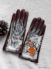Rukavice - rukavice vlk a líška - 10362786_