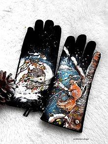 Rukavice - rukavice , veverička a ježko - 10363746_
