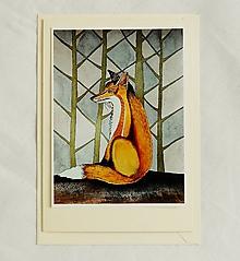 Papiernictvo - pohľadnica líška - 10363973_