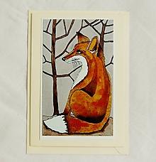 Papiernictvo - pohľadnica líška - 10364030_
