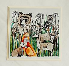 Papiernictvo - pohľadnica les - 10364064_