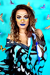 Ozdoby do vlasov - Modrý bohémsky festival hair clip - 10363768_