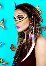 Ozdoby do vlasov - Ružový bohémsky festival hair clip - 10366370_
