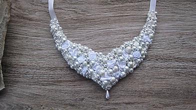 Náhrdelníky - Svadobný perlový náhrdelník č. 2563 - 10364655_