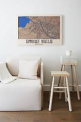 Obrazy - Nástěnná mapa Liptovský Mikuláš - 10365256_