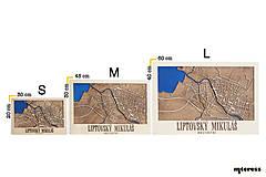 Obrazy - Nástěnná mapa Liptovský Mikuláš - 10365658_