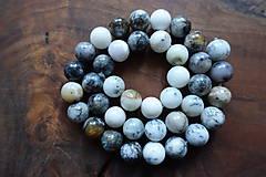 Minerály - Opál africký biely 1 - 10mm - 10363327_