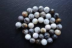 Minerály - Opál africký biely 1 - 10mm - 10363329_