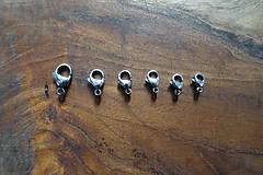 - Karabínka -stainless steel- (11x7x3,5mm) - 10365089_