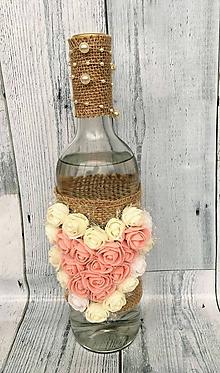 Nádoby - Valentín fľaša - 10366114_