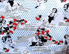 Textil - Úplet puntík - dovoz Itálie - 10365443_
