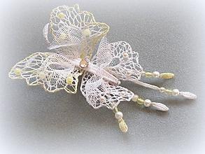 Ozdoby do vlasov - Motýl do vlasů větší - 10366023_