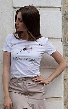 Tričká - Dámske tričko z organickej bavlny ROSE COLLECTION 3 - 10362225_