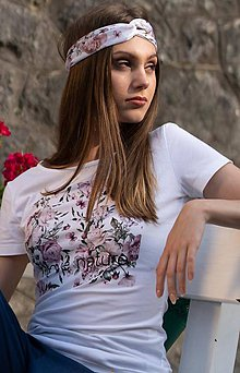 Tričká - Dámske tričko z organickej bavlny ROSE COLLECTION 1 - 10362227_