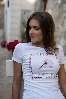 Tričká - Dámske tričko z organickej bavlny ROSE COLLECTION 2 - 10362230_