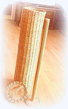 Košíky - Zásobník bledo hnedý - prírodný na 7 ks - 10364176_
