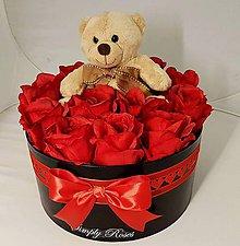 Dekorácie - Kvetinový box s Teddym na Valentína - 10366346_