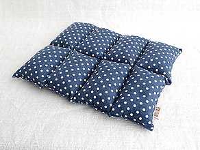 Úžitkový textil - FILKI kockáč (modrá bodka 40) - 10363408_