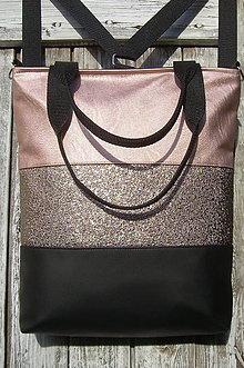 "Batohy - ""backpack 3in1- salmon&black"" - Batoh & taška cez rameno - 10364931_"