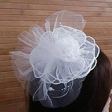 Ozdoby do vlasov - Svadobný fascinátor - 10362945_