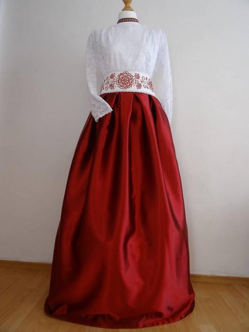 1d411e87c7db Plesová sukňa s opaskom   FolkJarka - SAShE.sk - Handmade Sukne
