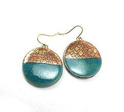 Náušnice - Naušničky - keramika/zlato - 10369197_