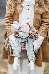 Hračky - Ľanová bábika  (Hnedá) - 10369729_