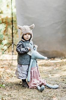 Hračky - Ľanová myška (Tyrkysová) - 10370149_