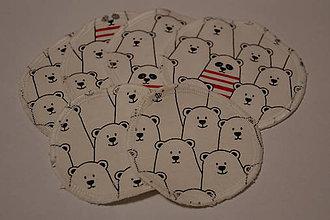 Úžitkový textil - ZERO WASTE ekologické odličovacie tampóny MEDVEĎ - 10370160_