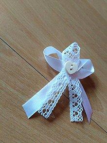 Pierka - Svadobné pierka čipkove biele - 10369111_