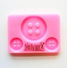 Pomôcky/Nástroje - Silikónová forma, gombík, button, 8x6 cm - 10367098_