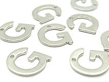 Komponenty - Písmeno G /M8009/ - nerezová oceľ 304 - 10370406_
