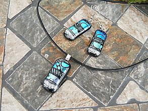 Sady šperkov - Set Blue-silver - 10367148_