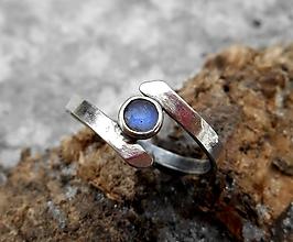 Prstene - Strieborný Prsteň s Labradoritom - 10367522_