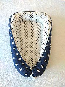 Textil - Hniezdo pre novorodenca (Hviezdy Navy blue) - 10370745_