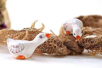 Dekorácie - Malé veľkonočné keramické húsky - 10368145_