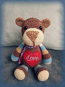 Hračky - Valentin's teddy - 10367868_